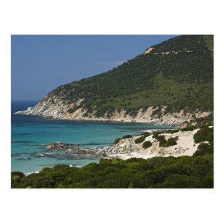 Italië, Sardinige, Solanas. Strand Briefkaart