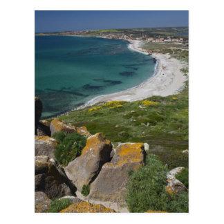 Italië, Sardinige, Tharros. Uitzicht van het Briefkaart