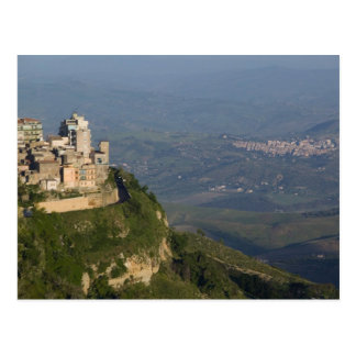 Italië, Sicilië, Enna, het Uitzicht van de Stad Briefkaart
