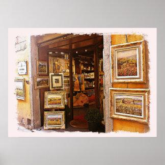 Italy.Tuscany. Kunstgalerie in Cortona. Poster