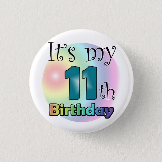 It's my 11th Birthday (Blue) Ronde Button 3,2 Cm