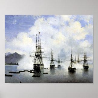 Ivan Aivazovsky- Het Landen in Subashi Poster