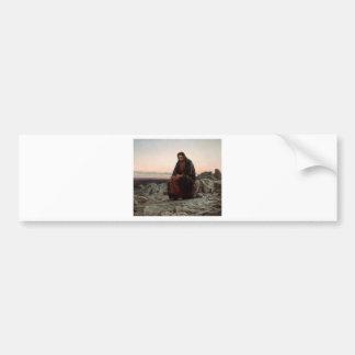 Ivan Kramskoy- Christus in de Wildernis - Fijn Bumpersticker