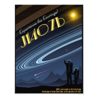 J1407b het Poster van de Ruimtevaart