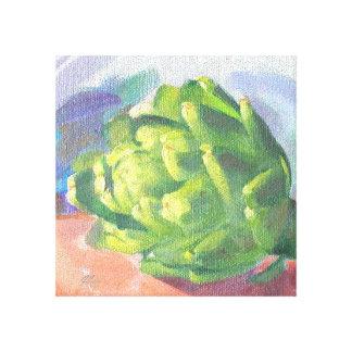 J Spoelstra het Schilderen van de Artisjok Canvas Print