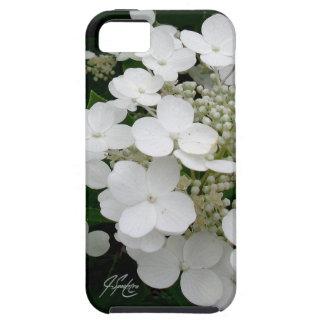 J Spoelstra het Witte BloemenHoesje van iPhone Tough iPhone 5 Hoesje