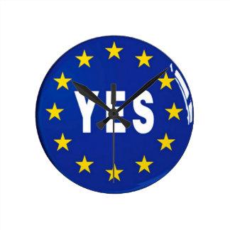 Ja aan de EU - Verblijf in de Europese Unie Ronde Klok Medium