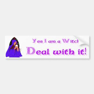 Ja ben ik een Heks behandel het! Bumpersticker