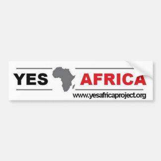 Ja de Sticker van de Bumper van Afrika Bumpersticker