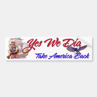 Ja kunnen wij deden, nemen de Rug van Amerika, Bumpersticker
