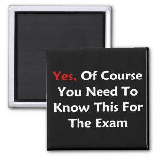 Ja, natuurlijk moet u dit voor het Examen kennen Magneet