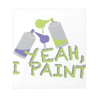 Ja schilder ik kladblok
