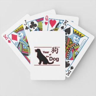 Jaar van de Hond - Chinees Nieuwjaar Bicycle Speelkaarten