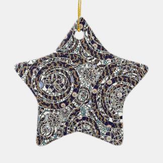 jaar van de slang keramisch ster ornament