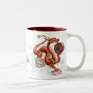 Jaar van het Art. van de Dierenriem van de Draak Tweekleurige Koffiemok