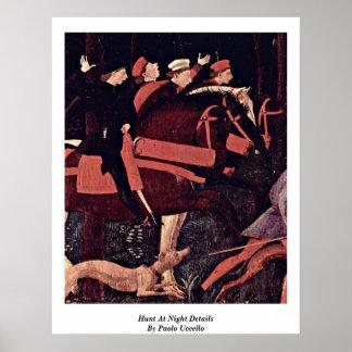 Jacht bij de Details van de Nacht door Paolo Poster