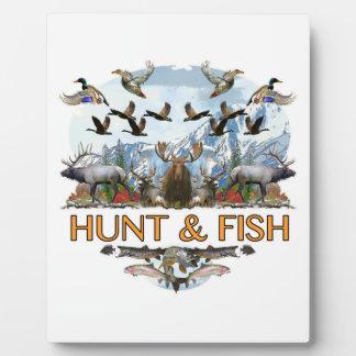 Jacht en vissen fotoplaat