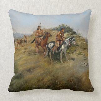 Jacht van buffels, 1891 (olie op canvas) sierkussen