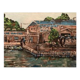 Jachthaven in Portside, het Eiland van Kelley, het Briefkaart