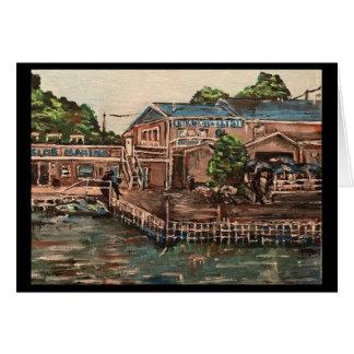 Jachthaven in Portside, het Wenskaart van het