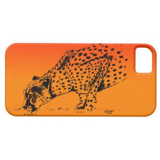 Jachtluipaard I van de zonsondergang Barely There iPhone 5 Hoesje