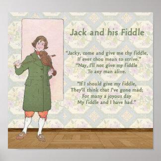 Jack en zijn Fiddle Poster