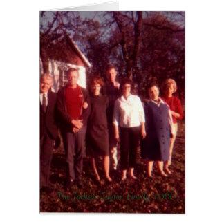 Jackson familie, de Jackson-Layton Familie 1966 Wenskaart