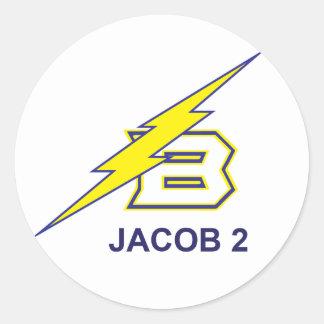 JACOB 2 RONDE STICKER