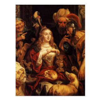 Jacob Jordaens- het Banket van Cleopatra Briefkaart