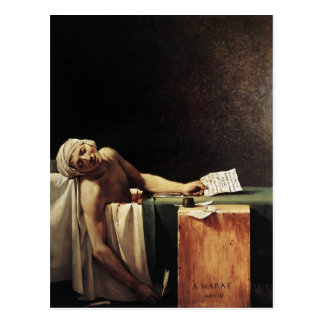 Jacques-Louis David de Dood van Marat Briefkaart