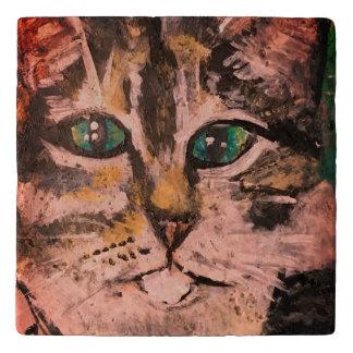 Jade Eyed CatTrivet (u kunt aanpassen) Trivet