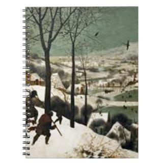 Jagers in Het Schilderen van de Winter Notitieboek