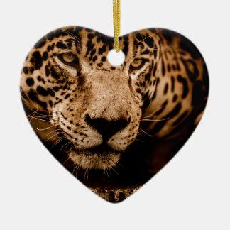 jaguar water het besluipen ogen keramisch hart ornament