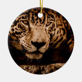jaguar water het besluipen ogen rond keramisch ornament