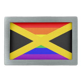 Jamaïca vlag van de land de vrolijke trotse gespen