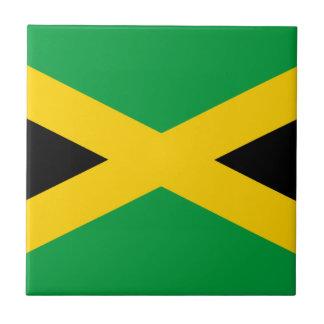 Jamaicaanse Vlag Tegeltje Vierkant Small