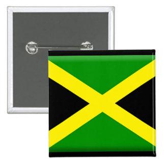 Jamaicaanse Vlag Vierkante Button 5,1 Cm