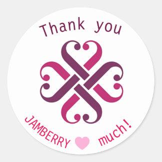 Jamberry dankt u de verbindingen van de ronde sticker