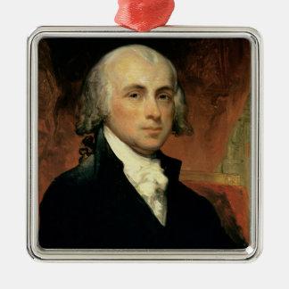 James Madison 2 Zilverkleurig Vierkant Ornament