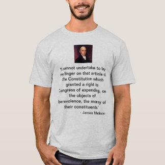 """James-Madison-afbeelding, """"ik kan niet aan l… T Shirt"""