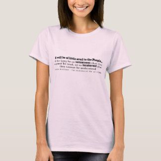 James Madison Federalistisch Nr 62 (1788) T Shirt