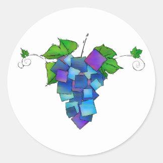 Jamurissa - vierkante druiven ronde sticker