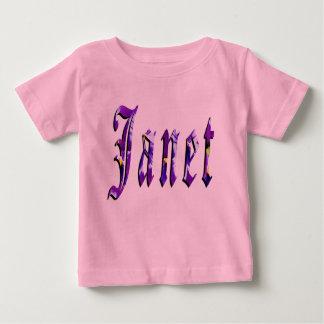 Janet, Naam, Logo, de Roze T-shirt van de Meisjes