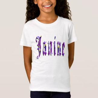 Janine, Naam, Logo, de Witte T-shirt van Meisjes