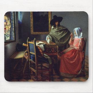 Januari Vermeer - het Glas Wijn Muismat