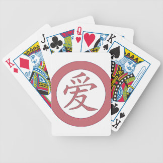 Japans - Chinese Liefde 爱 Bicycle Speelkaarten