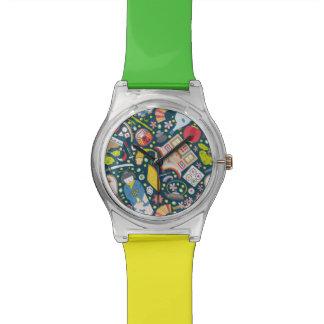 Japans Naadloos Patroon Horloge