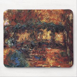 Japanse Brug door Claude Monet, Vintage Fijn Art. Muismatten