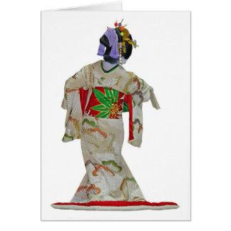 Japanse danser 1 wenskaart