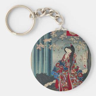 Japanse Geisha Dame Japan Art Cool Classic Sleutelhanger